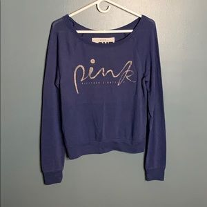 VS Pink navy top